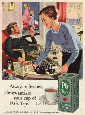 Magazine Advert PG Tips 1950s
