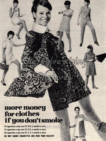 Magazine Advert Anti-smoking 1960s