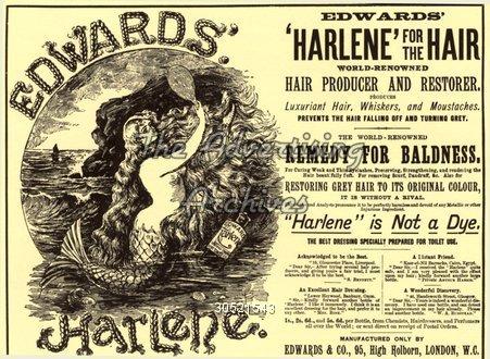 Magazine Advert Harlene 1890s
