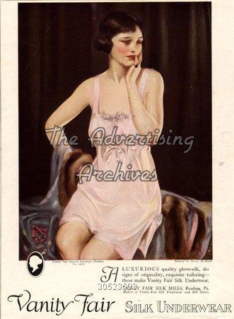 Magazine Advert Vanity Fair Silk Lingerie 1920s