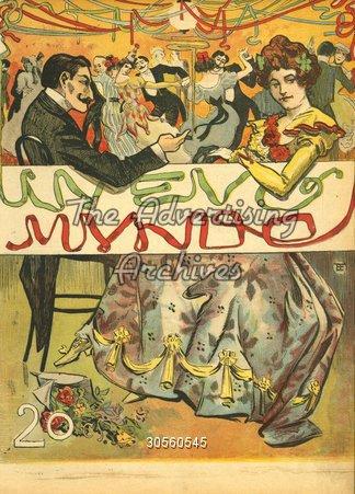 Magazine Cover Nuevo Mundo 1900s