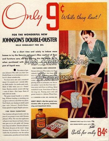 Magazine Advert Johnson's Double-Duster 1930s