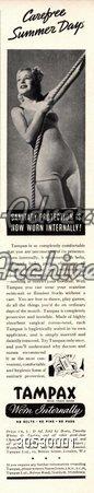 Magazine Advert Tampax 1930s