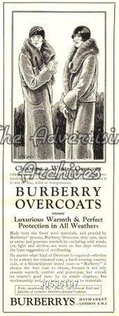 Magazine Advert Burberry 1920s