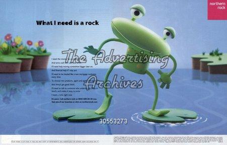 Magazine Advert Northern Rock 2000s